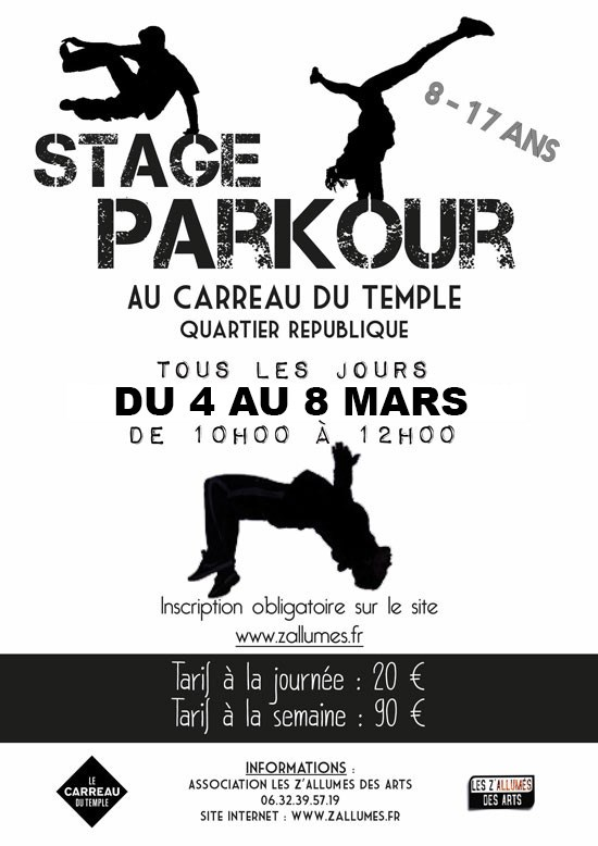 Stage  Parkour Carreau du Temple