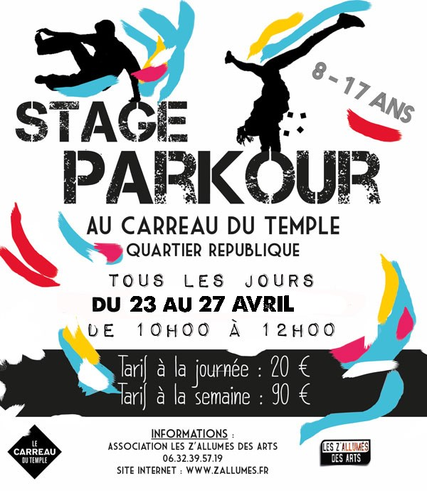 STAGE PARKOUR DU 23 AU 27 AVRIL